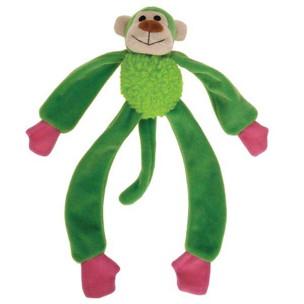 Zanies Monkey Mayhem Dog Toy - Green