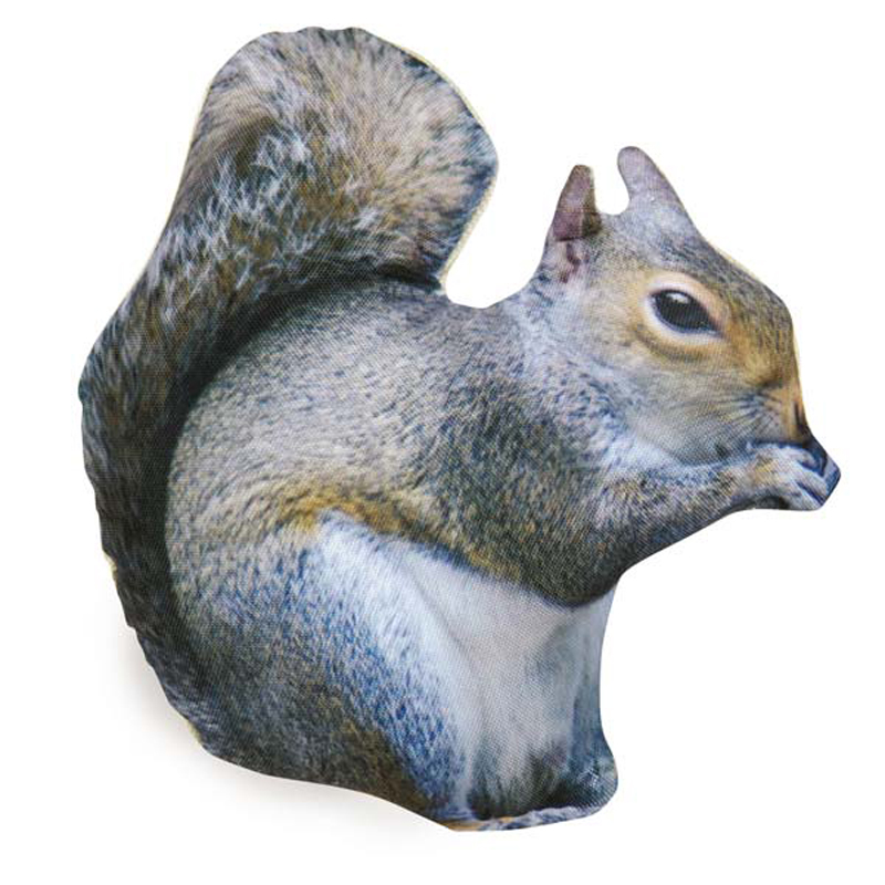 Zanies Photo Real Dog Toy - Squirrel