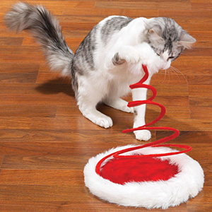 Zanies Santa Claus Paws Holiday Hat Cat Toy