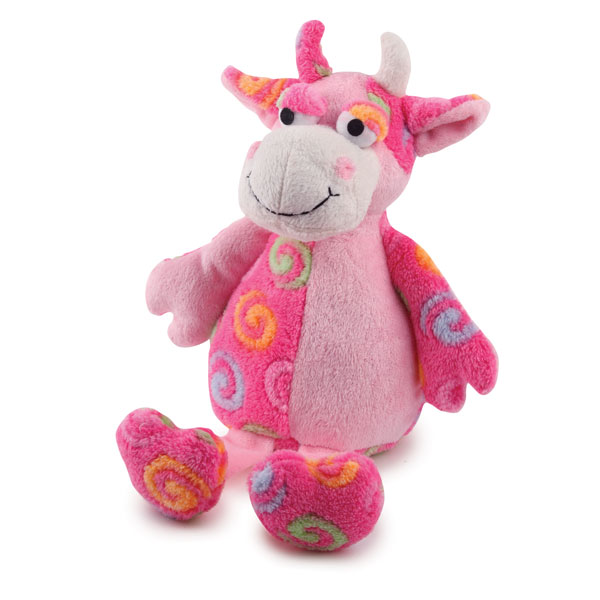 Zanies Swirly Herd Dog Toy - Pink