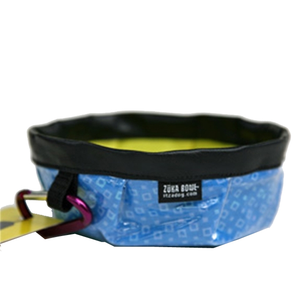 Zuka Dog Bowl - Blue Squares