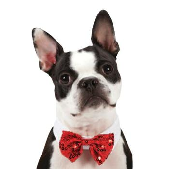 Aria Canine Royale Bowtie - Red Sequin starting at $5.00!