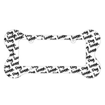Bone Shaped License Plate Frame Dog Lover At Pet Retail Supply