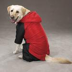 View Image 5 of 2 in 1 Dog Snowsuit - Red