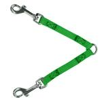 View Image 1 of 2-Way Coupler Leash by Guardian Gear - Electric Lime