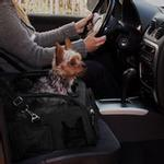 View Image 2 of 3-in-1 Convertible Pet Carrier/Bike Basket/Car Seat - Black