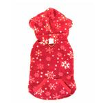 View Image 2 of 4 in 1 Fleece Dog Hoodie and Vest Combination - Red Snowflake