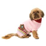 View Image 1 of AJ's Applique Dog Sweater - Pink