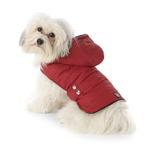 View Image 1 of Alberta Quilted Dog Parka - Garnet Red