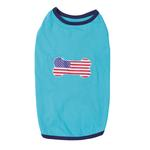 View Image 2 of All American Pup Dog T-Shirt - Blue