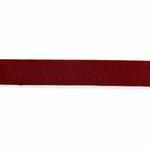 View Image 3 of Amethyst Mini Beads Leather Dog Leash - Red