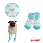View Image 1 of Angel Heart Dog Socks by Puppia - Blue