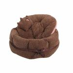 View Image 2 of Angelic Dog Bed by Pinkaholic - Brown
