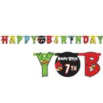 Angry Birds Party Supplies - Add An Age Letter Banner