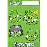 Angry Birds Party Supplies - Folded Plastic Loot Bags