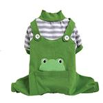 View Image 1 of Animal Overalls Dog Pajamas - Frog