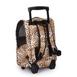 View Image 3 of Animal Print Backpack Dog Carrier on Wheels - Cheetah