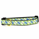 Argyle Dog Collar by Up Country - Blue & Green