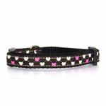 View Image 1 of Argyle Hearts Cat Collar - Brown