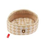View Image 1 of Argyle Mode Dog Bed by Puppia - Beige