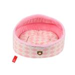 View Image 1 of Argyle Mode Dog Bed by Puppia - Pink