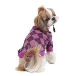 View Image 1 of Argyle Mode Dog Sweatshirt by Puppia - Purple