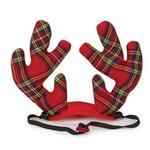View Image 2 of Aria Holiday Tartan Pet Antlers