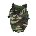 View Image 1 of Army Camo Dog Raincoat by Dogo - Green
