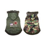 View Image 1 of Army Dog Coat by Dogo - Green