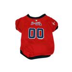 Atlanta Braves Baseball Dog Jersey - Red