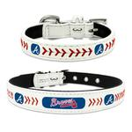 View Image 1 of Atlanta Braves Leather Dog Collar