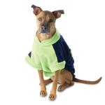 View Image 1 of Attitash Fleece Dog Jacket - Navy & Lime