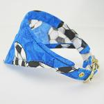 View Image 2 of Bandana Dog Collar - Blue Soccer