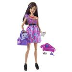 Barbie Doll - Fashionistas Swappin' Styles Purple Doll with Pet