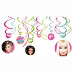 Barbie Party Supplies - All Doll'd Up Swirl Decorations