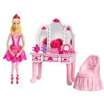 Barbie Toys - Pink Shoes Pink Vanity Furniture Set