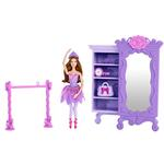 Barbie Toys - Pink Shoes Purple Armoire Furniture Set