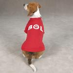 View Image 1 of Bark Out Loud Dog T-Shirt - Red