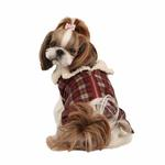 View Image 1 of Barron Winter Dog Jacket by Puppia - Wine