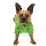 View Image 3 of Basic Dog Hoodie - Parrot Green