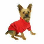 View Image 3 of Basic Dog Hoodie - Tomato Red