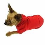 View Image 4 of Basic Dog Hoodie - Tomato Red