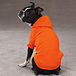 View Image 1 of Basic Dog Hoodie - Vibrant Orange
