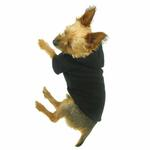 View Image 4 of Basic Fleece Dog Hoodie - Black