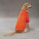 View Image 3 of Basic Fleece Dog Hoodie - Orange