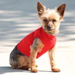 View Image 3 of Basic Tank Dog Shirt - Flame Scarlett