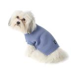 View Image 3 of Baxter's Basic Dog Sweater - Periwinkle Blue