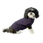 View Image 2 of Baxter's Basic Dog Sweater - Plum