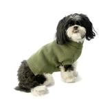 View Image 1 of Baxter's Basic Dog Sweater - Sage Green