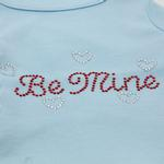 View Image 2 of Be Mine Rhinestone Dog Tank - Baby Blue